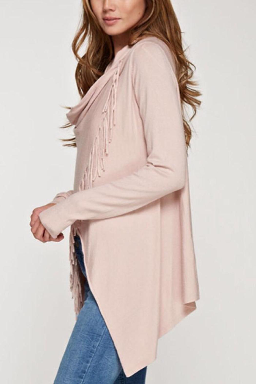 Lovestitch Fringed Wrap Cardigan - Front Full Image