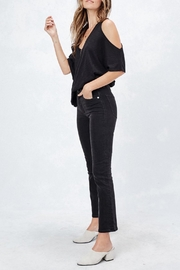 Love Stitch Cold Shoulder Tee - Side cropped