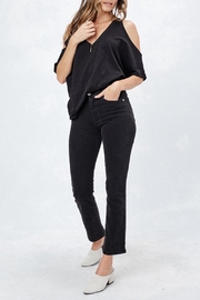 Love Stitch Cold Shoulder Tee - Front full body