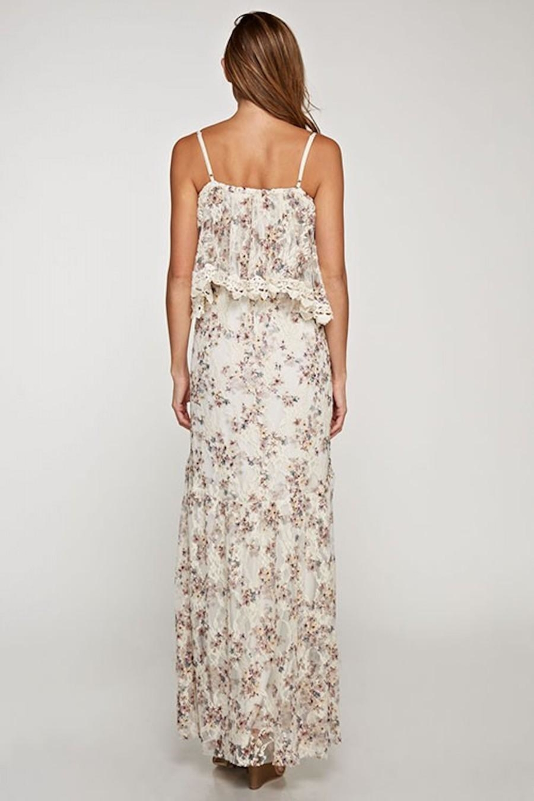 Love Stitch Dainty-Floral Lace Maxi - Side Cropped Image