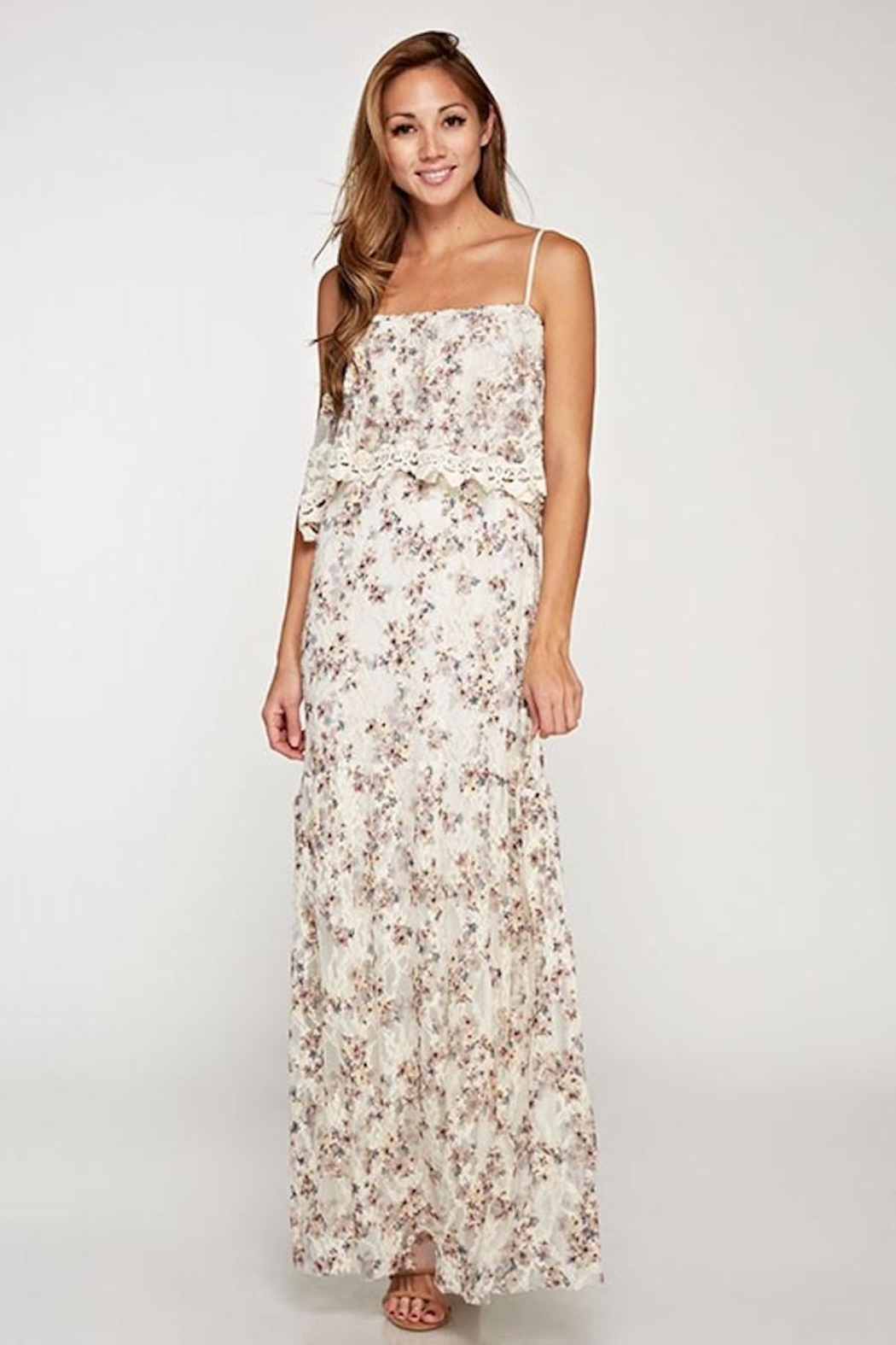 Love Stitch Dainty-Floral Lace Maxi - Main Image