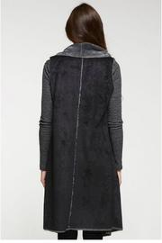 Lovestitch Faux Suede Maxi Vest - Front full body