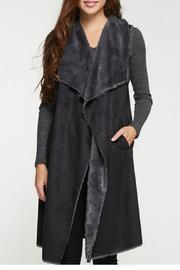 Lovestitch Faux Suede Maxi Vest - Product Mini Image