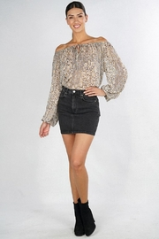 Love Stitch Feather Peasant Blouse - Other