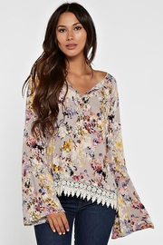 Love Stitch Floral Bell Sleeve - Product Mini Image