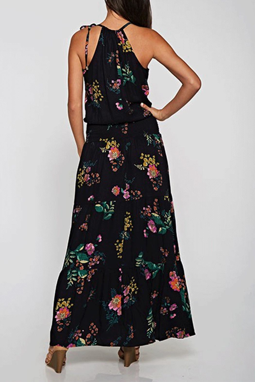 Love Stitch Floral Maxi Dress - Front Full Image