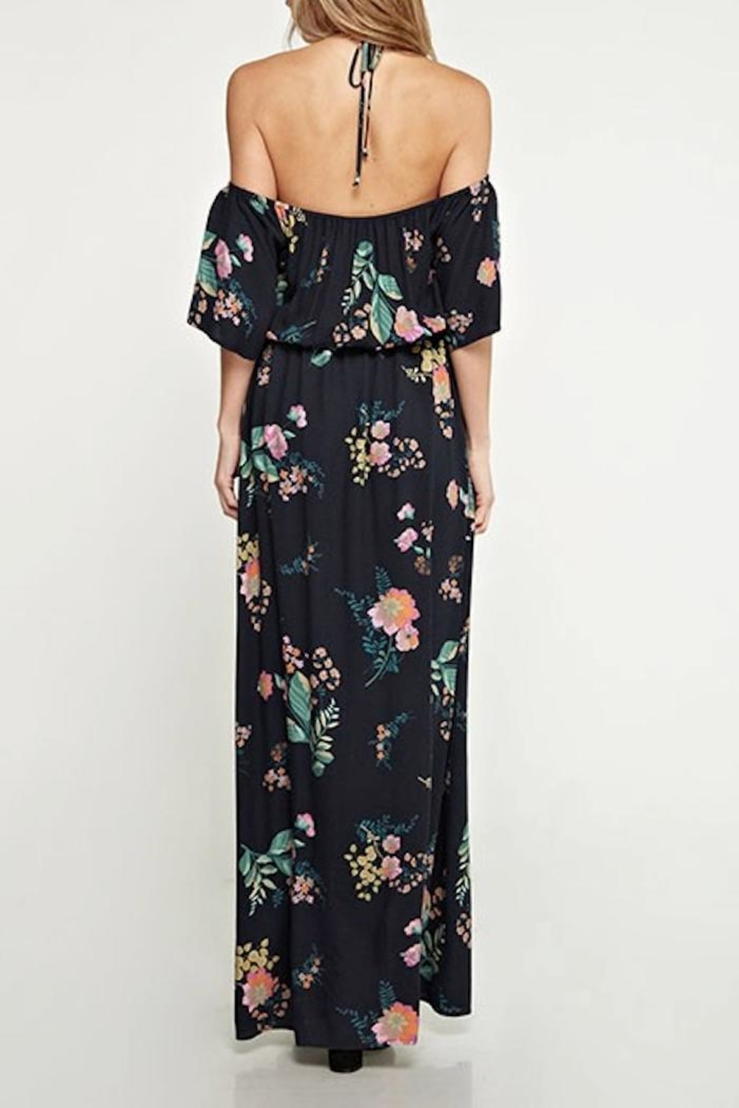 Love Stitch Floral Maxi Dress - Side Cropped Image