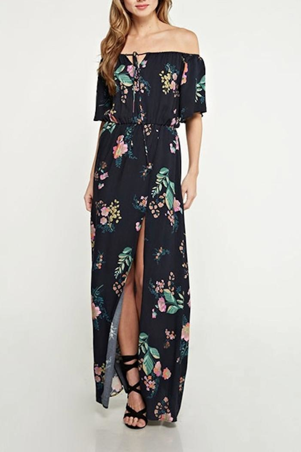 Love Stitch Floral Maxi Dress - Main Image