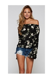 Love Stitch Floral Off Shoulder - Front cropped