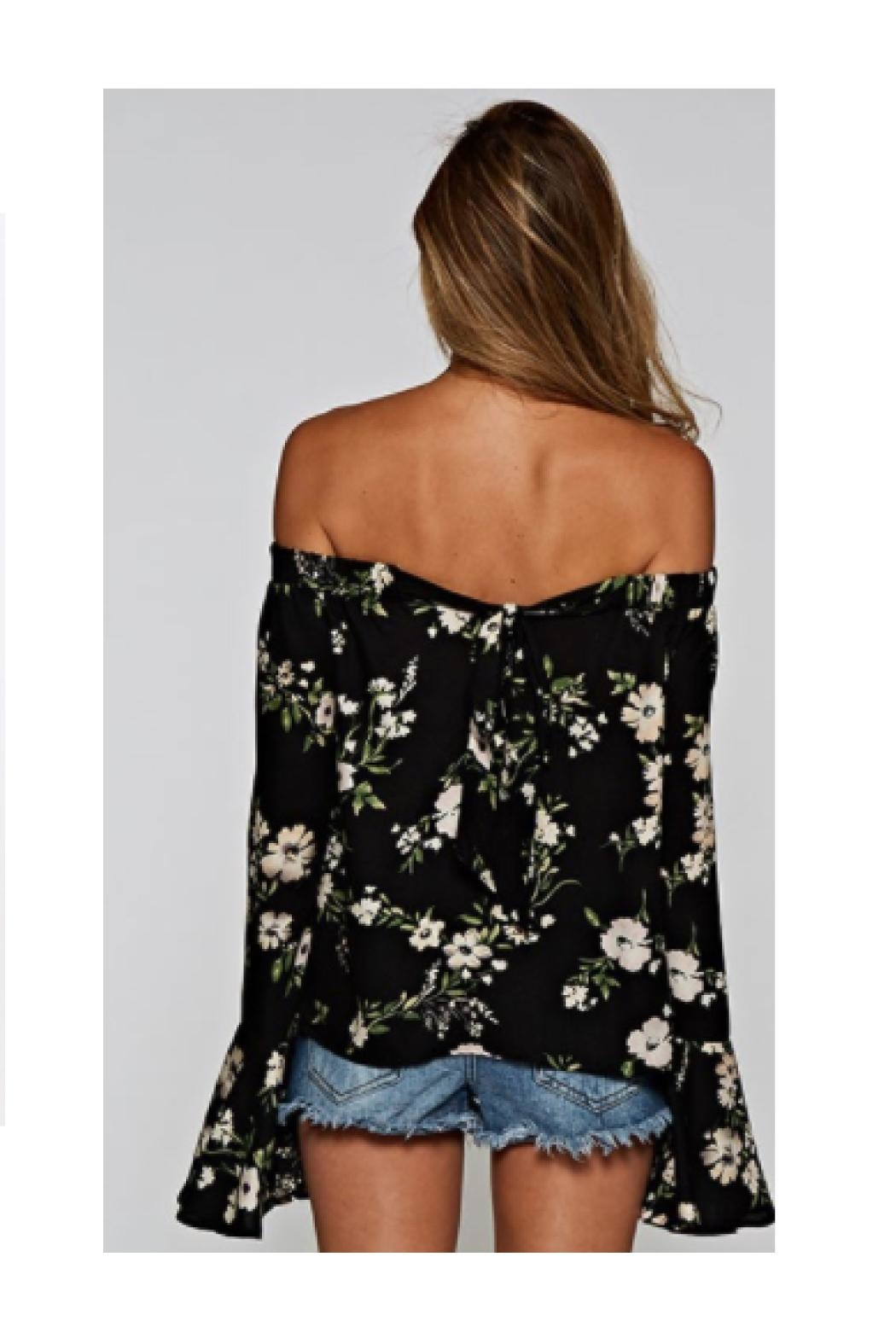 Love Stitch Floral Off Shoulder - Front Full Image