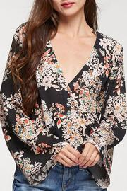 Lovestitch Floral Surplice Top - Product Mini Image