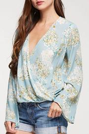 Lovestitch Floral Surplice Top - Front cropped