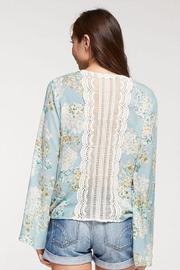 Lovestitch Floral Surplice Top - Side cropped