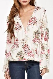 Lovestitch Floral Surplice Top - Front full body