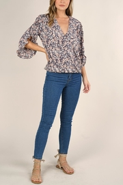 Love Stitch Floral Surplice Top - Product Mini Image