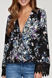 Lovestitch Floral Tie Front Top - Product Mini Image