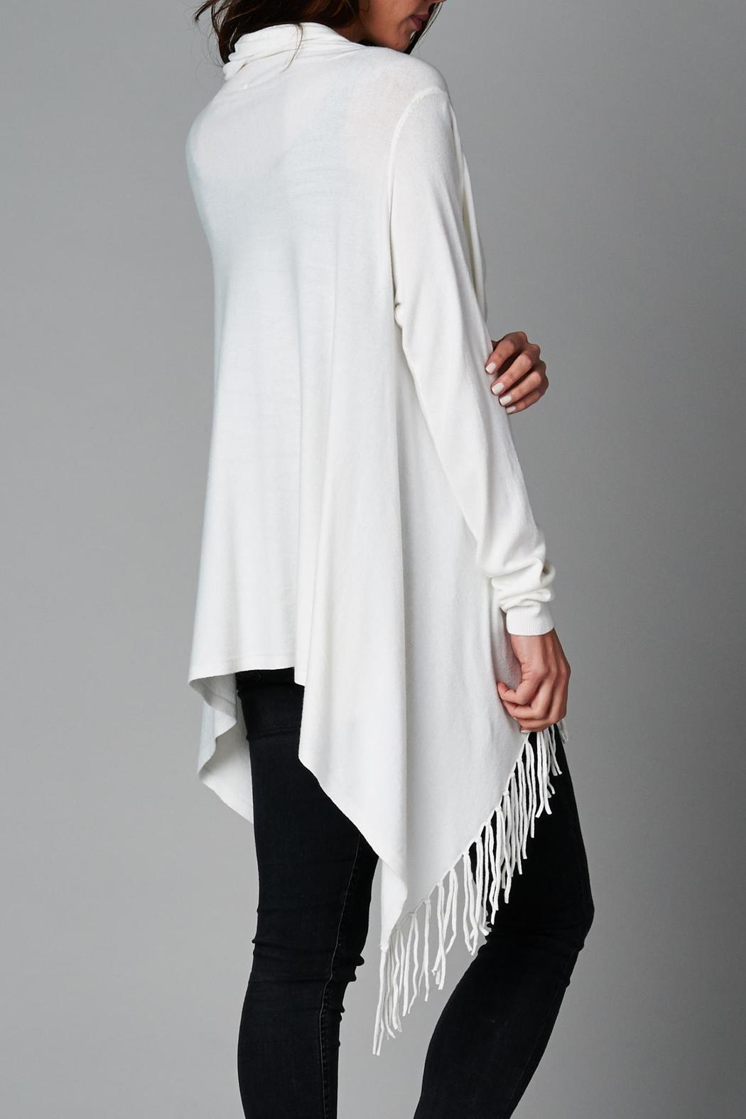Lovestitch Fringe Wrap Cardigan - Front Cropped Image - Lovestitch Fringe Wrap Cardigan From Illinois By LUXE Wearhouse