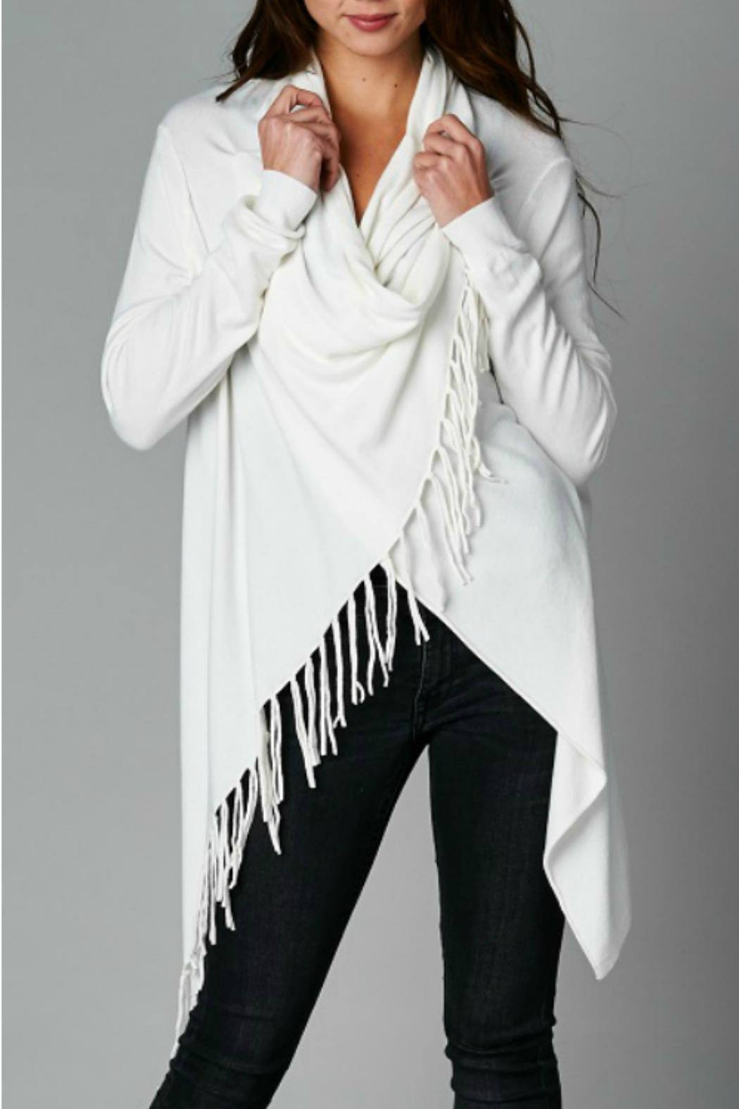 Lovestitch Fringe Wrap Cardigan from Illinois by LUXE wearhouse ...