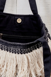 Love Stitch Fringe Tapestry Tote - Side cropped