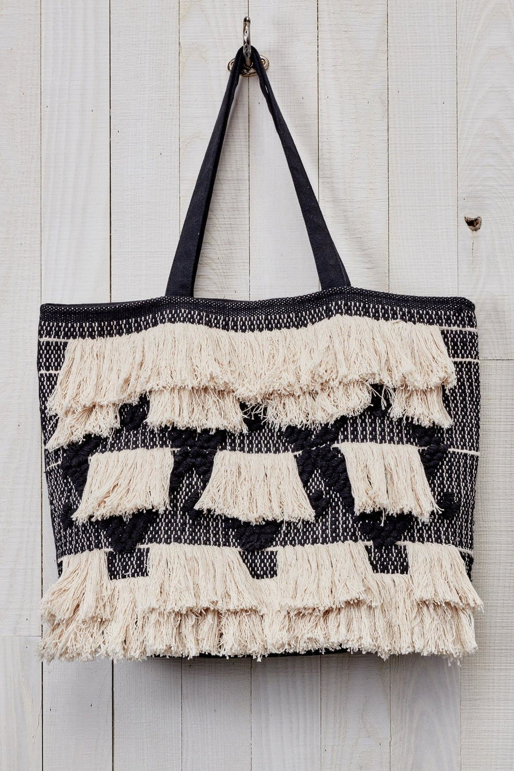 Love Stitch Fringe Tapestry Tote - Main Image