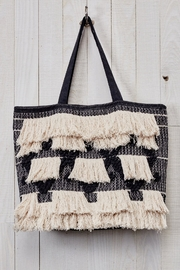 Love Stitch Fringe Tapestry Tote - Front cropped