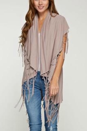 Love Stitch Fringe sweater Vest - Product Mini Image