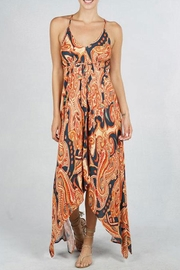Love Stitch Geo Print Backless-Dress - Front cropped