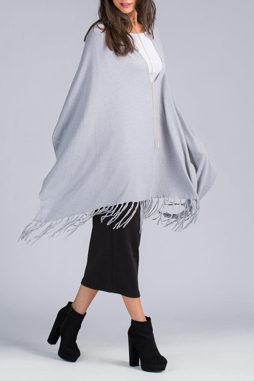 Lovestitch Granite Fringe Poncho from Montclair by Atelier ...