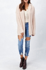 Love Stitch Hooded Open Hoodie - Front cropped