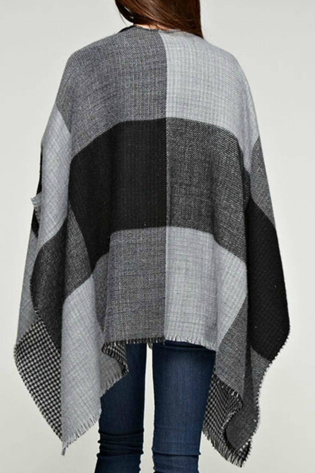 Love Stitch Kensington Reversible Poncho - Front Full Image