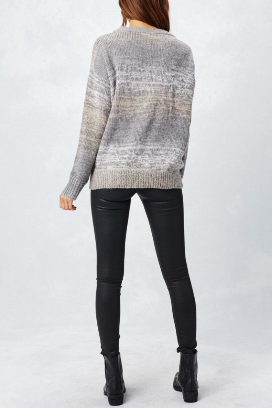 Love Stitch Lace-Up Sweater - Side Cropped Image