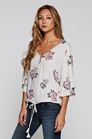 Love Stitch Layered Sleeve Top - Side cropped