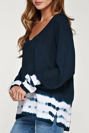 Love Stitch Navy Dip Dye Top - Side cropped