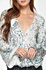 Lovestitch Paisley Surplice Top - Product Mini Image