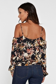 Love Stitch Printed Cold Shoulder - Front full body