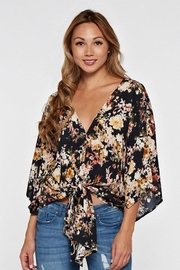 Love Stitch Printed Kimono Sleeve-Top - Product Mini Image