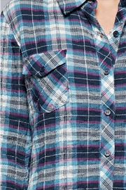 Love Stitch Puckered Plaid Buttondown - Other