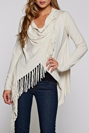 Love Stitch Shawl Poncho Sweater - Product Mini Image