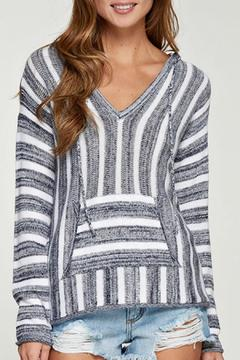 Shoptiques Product: Striped Hooded Pullover