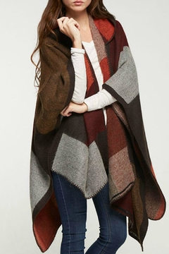 Love Stitch Sunset Hooded Poncho - Product List Image