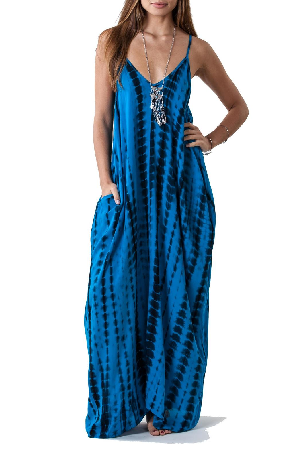 Lovestitch Tie Dye Maxi - Front Cropped Image