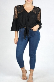 Love Stitch Tie Front Top - Product Mini Image
