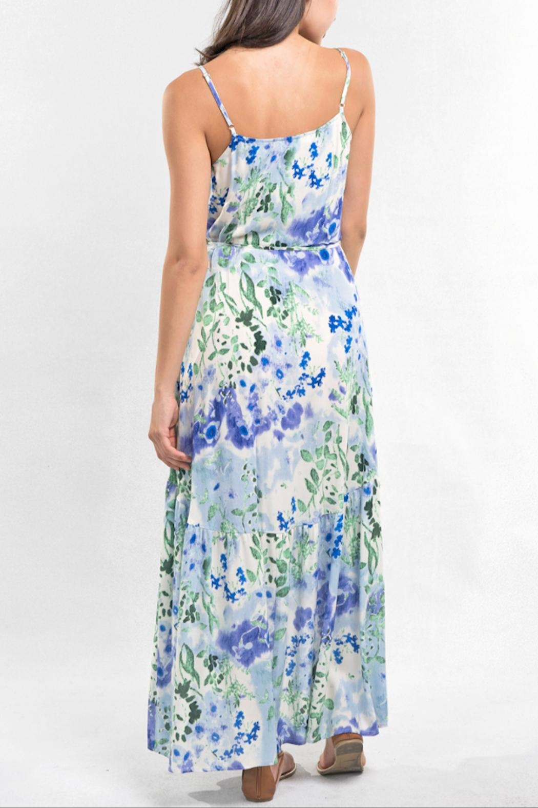 Love Stitch Watercolor Maxi Dress - Back Cropped Image