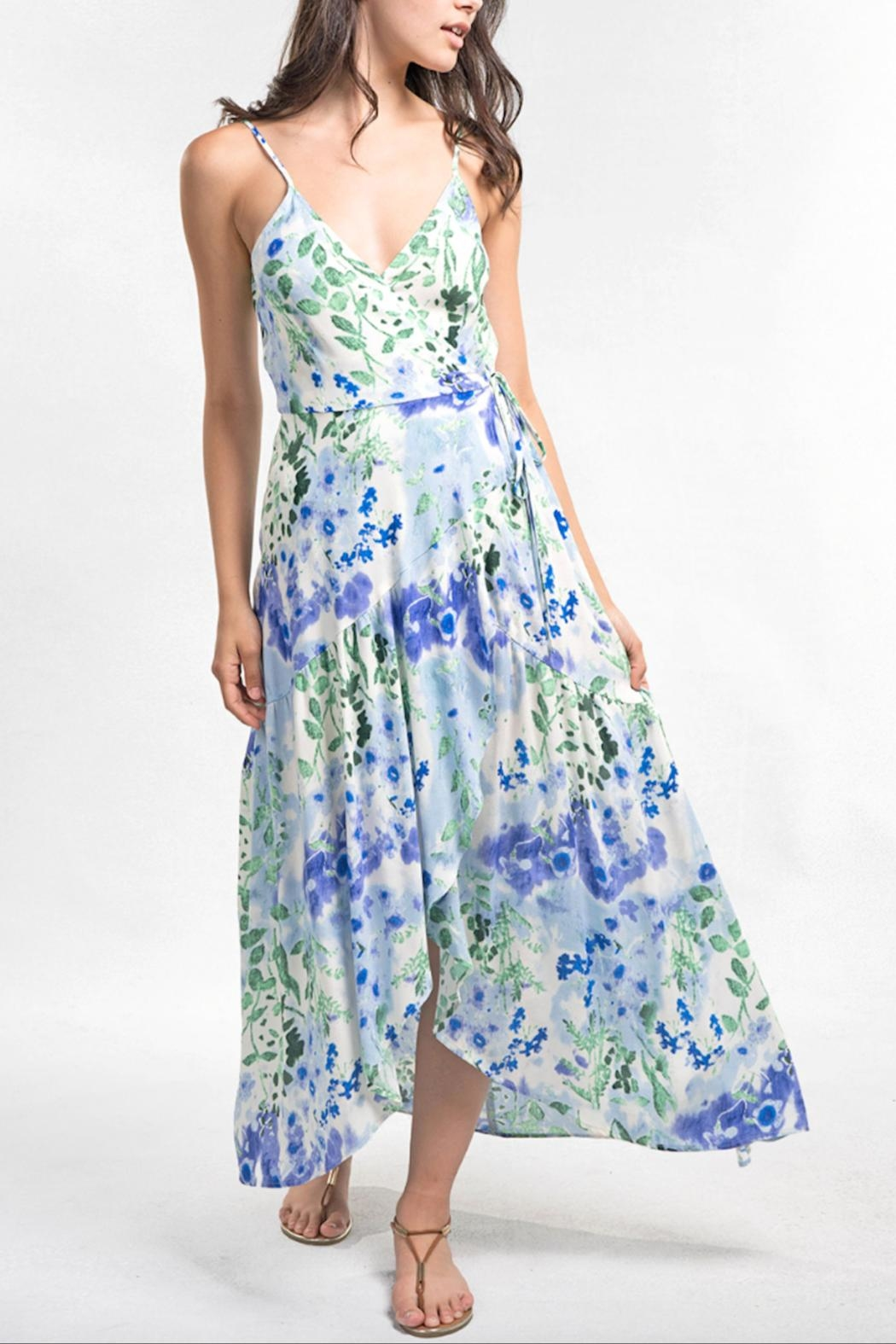 Love Stitch Watercolor Maxi Dress - Front Full Image