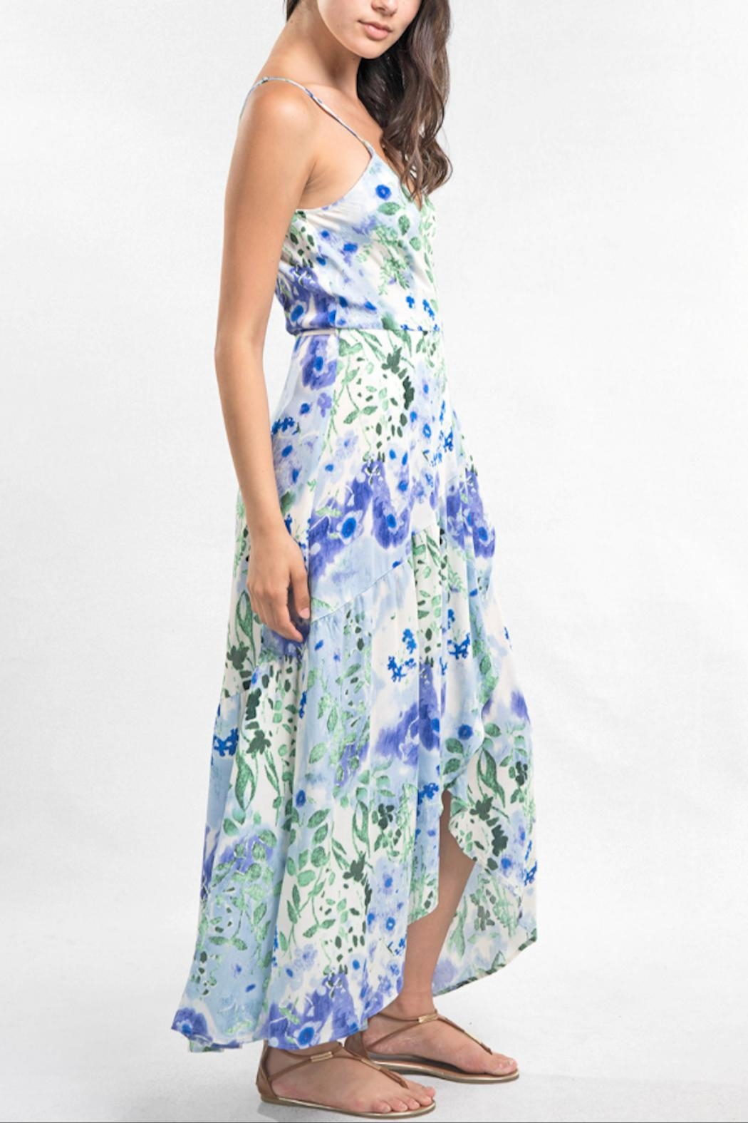 Love Stitch Watercolor Maxi Dress - Side Cropped Image