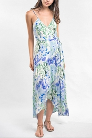 Love Stitch Watercolor Maxi Dress - Front cropped