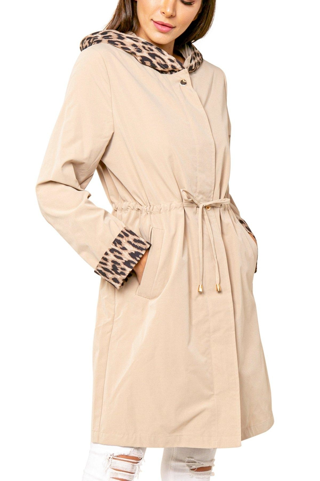 love token Animal Accent Trench - Main Image