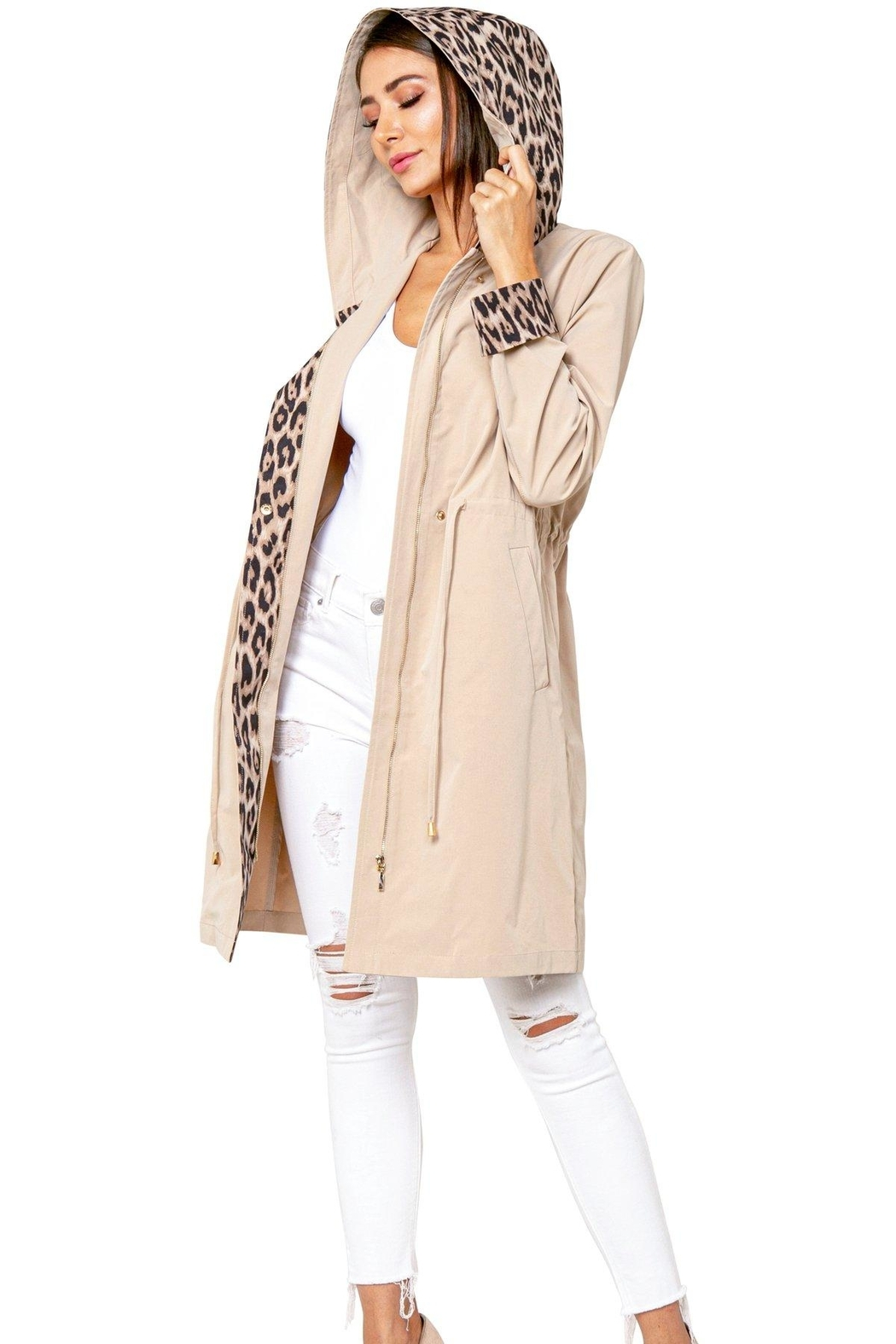 love token Animal Accent Trench - Front Full Image
