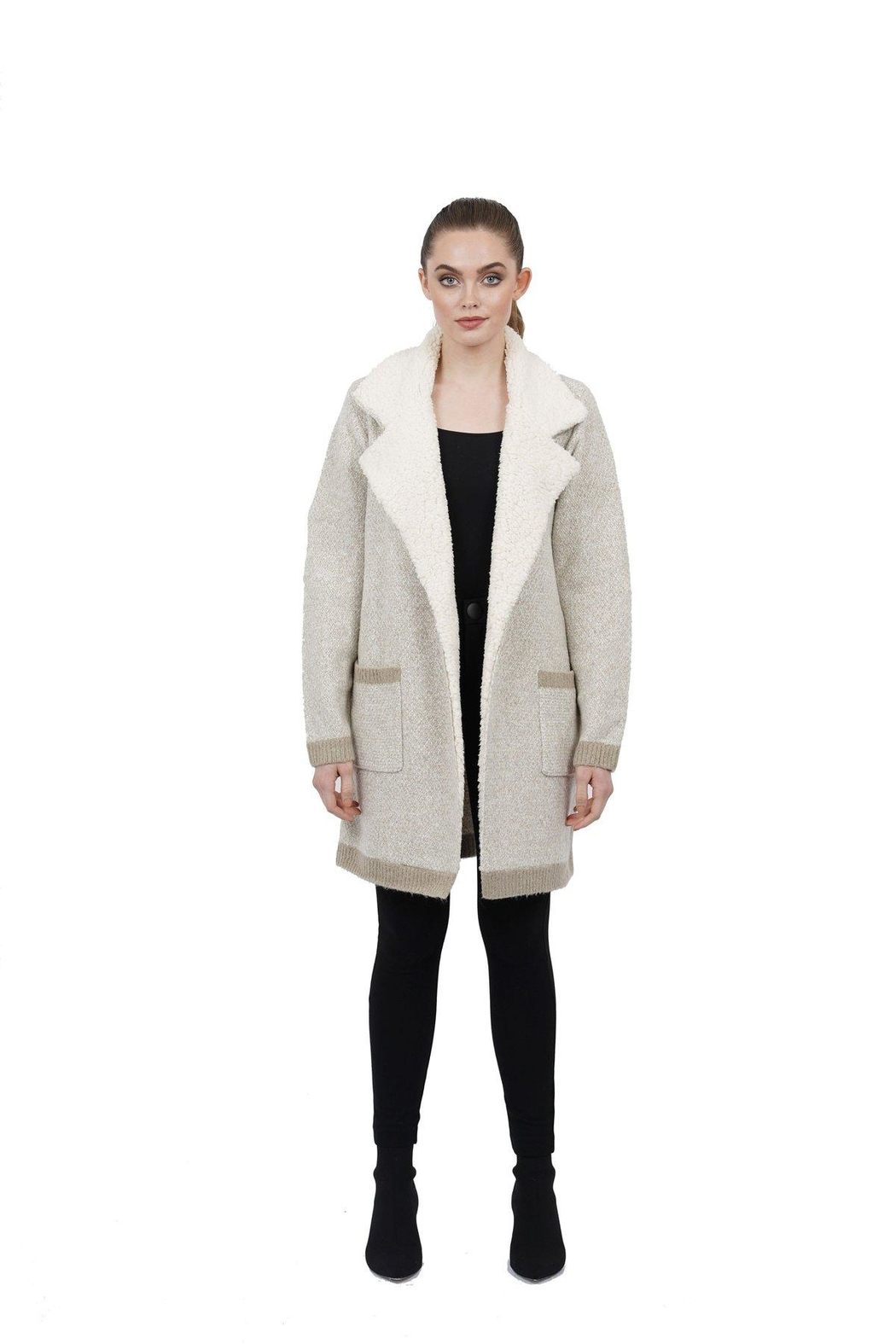 love token Candie Shearling Collar - Front Full Image