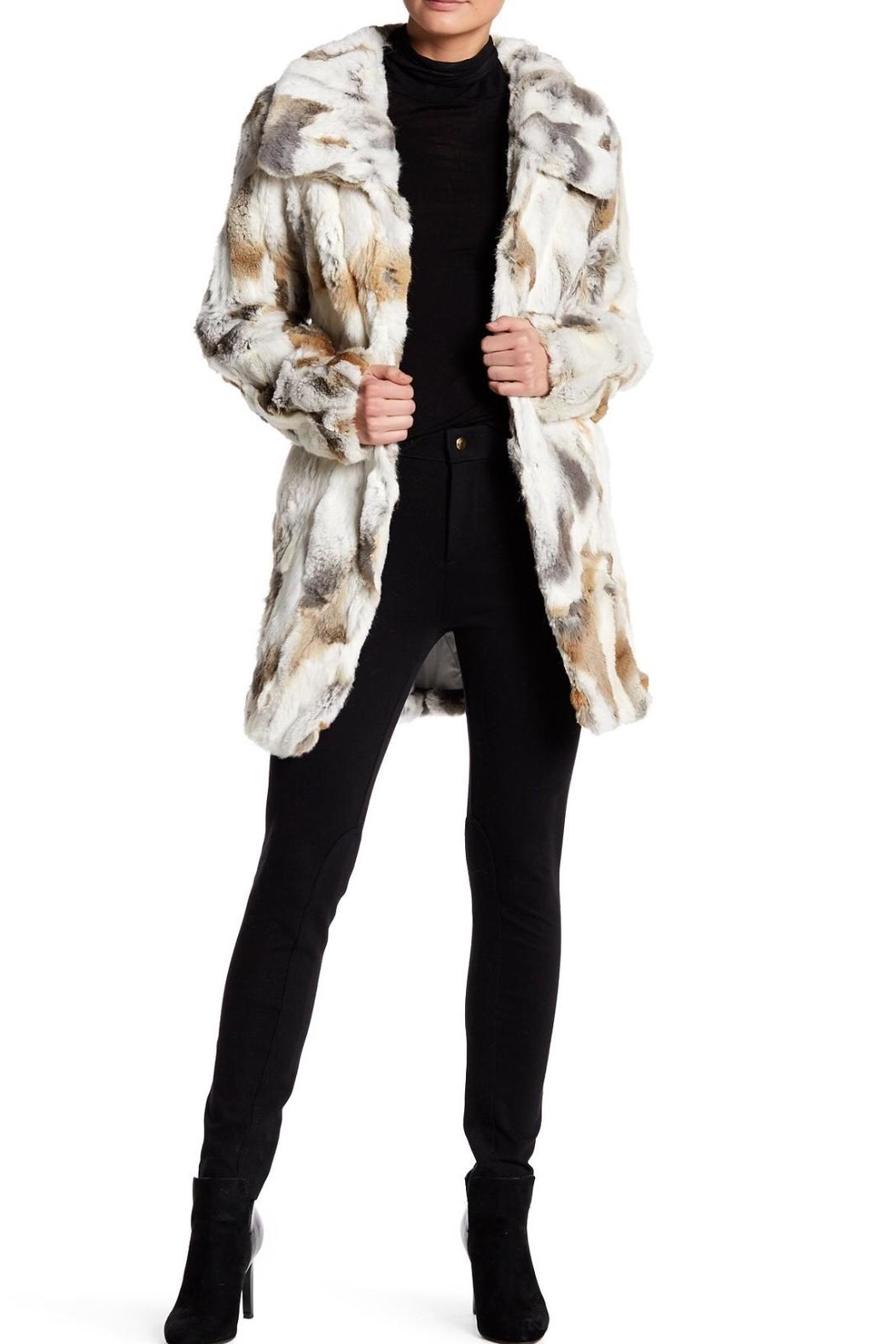 love token Classic Fur Coat - Front Cropped Image